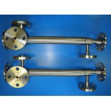 Металлорукав высокого давления из нержавеющей стали для перекачки битума с паровым обогревом