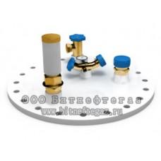 Комплект арматуры (клапана, краны, вентили, манометр, механический уровнемер) для 1 резервуара